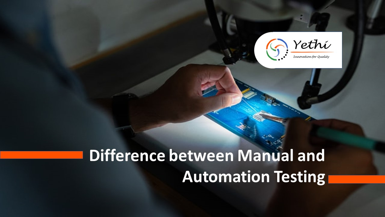 Difference between automation and manual testing