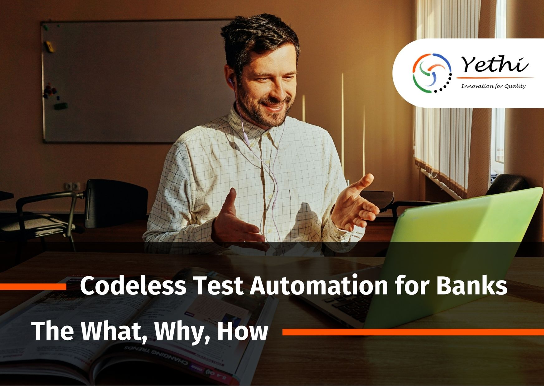 Codeless test automation for banks